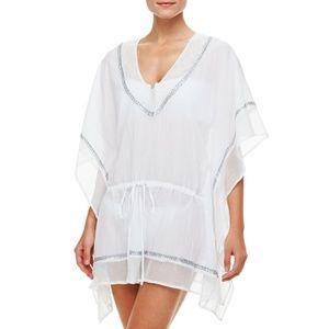 NWOT La Blanca Embellished Kaftan White Cover Up